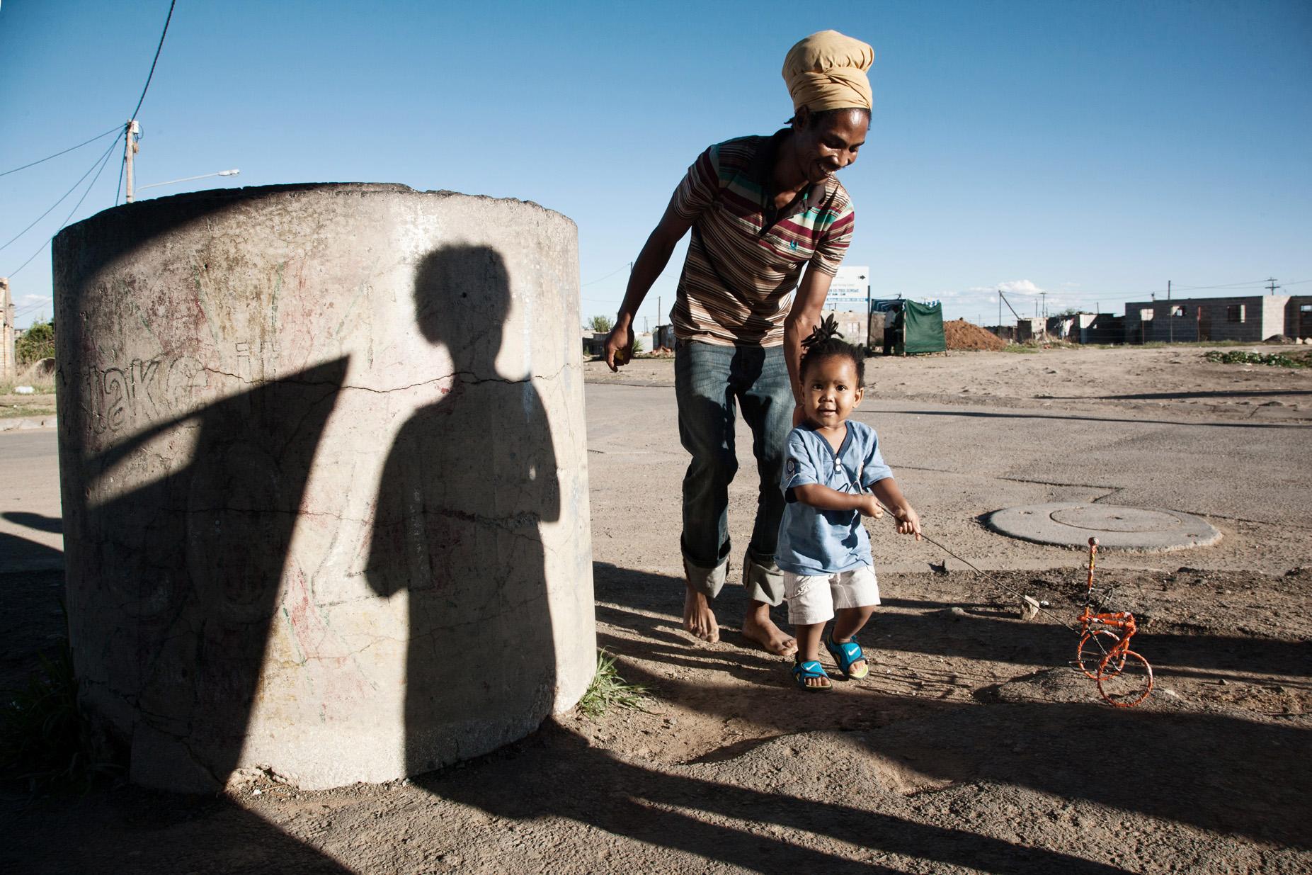 Ras Benji and his son Toka, JB Mafora/Bloemfontein.
