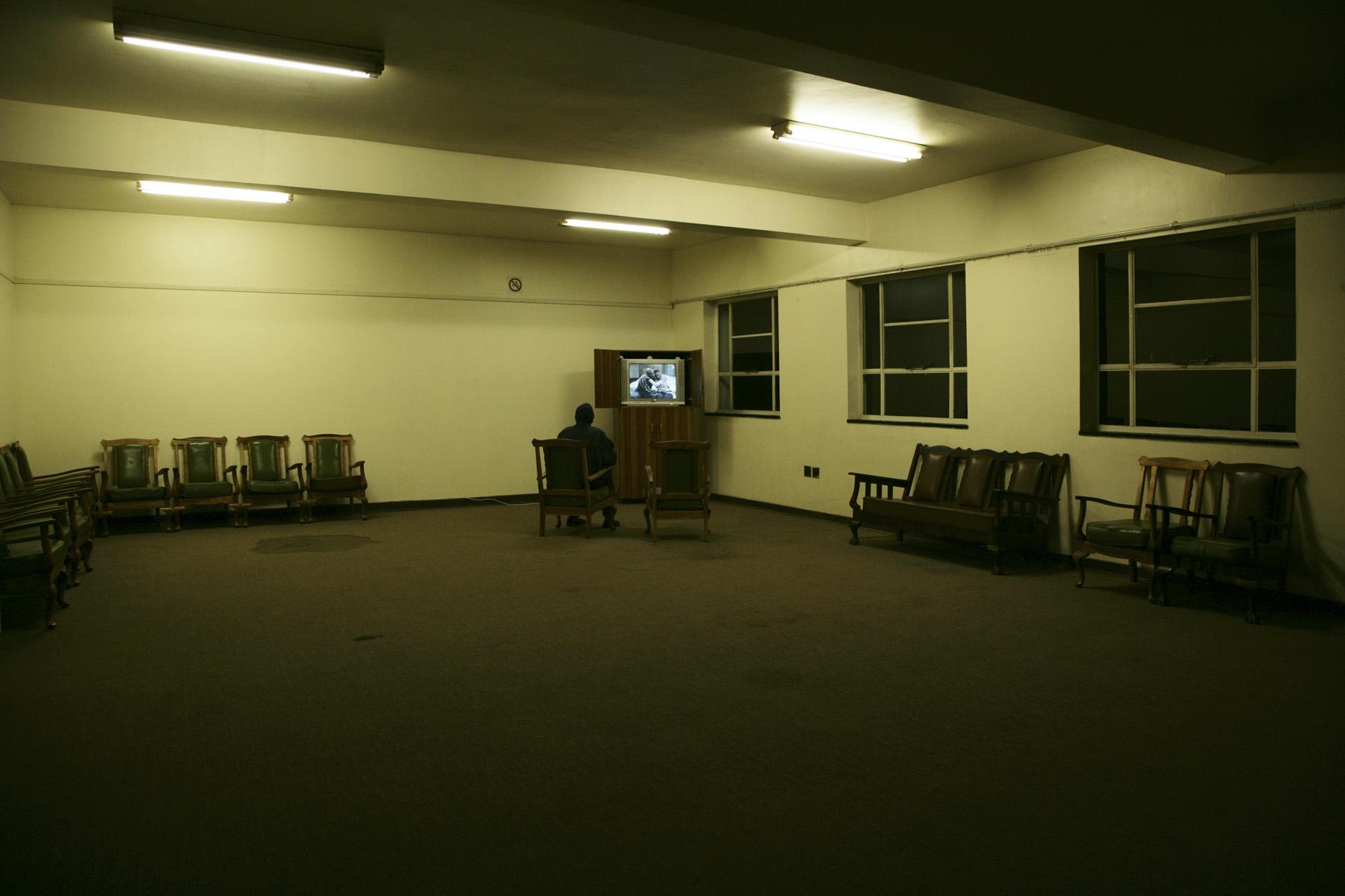 TV room at the Railway Hostel, Navalsig/Bloemfontein.