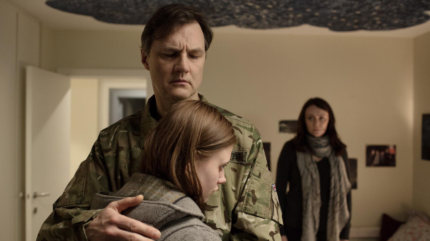 David Morrissey, Abigail Hardingham & Keeley Hawes in THE MISSING 2 - Courtesy BBC