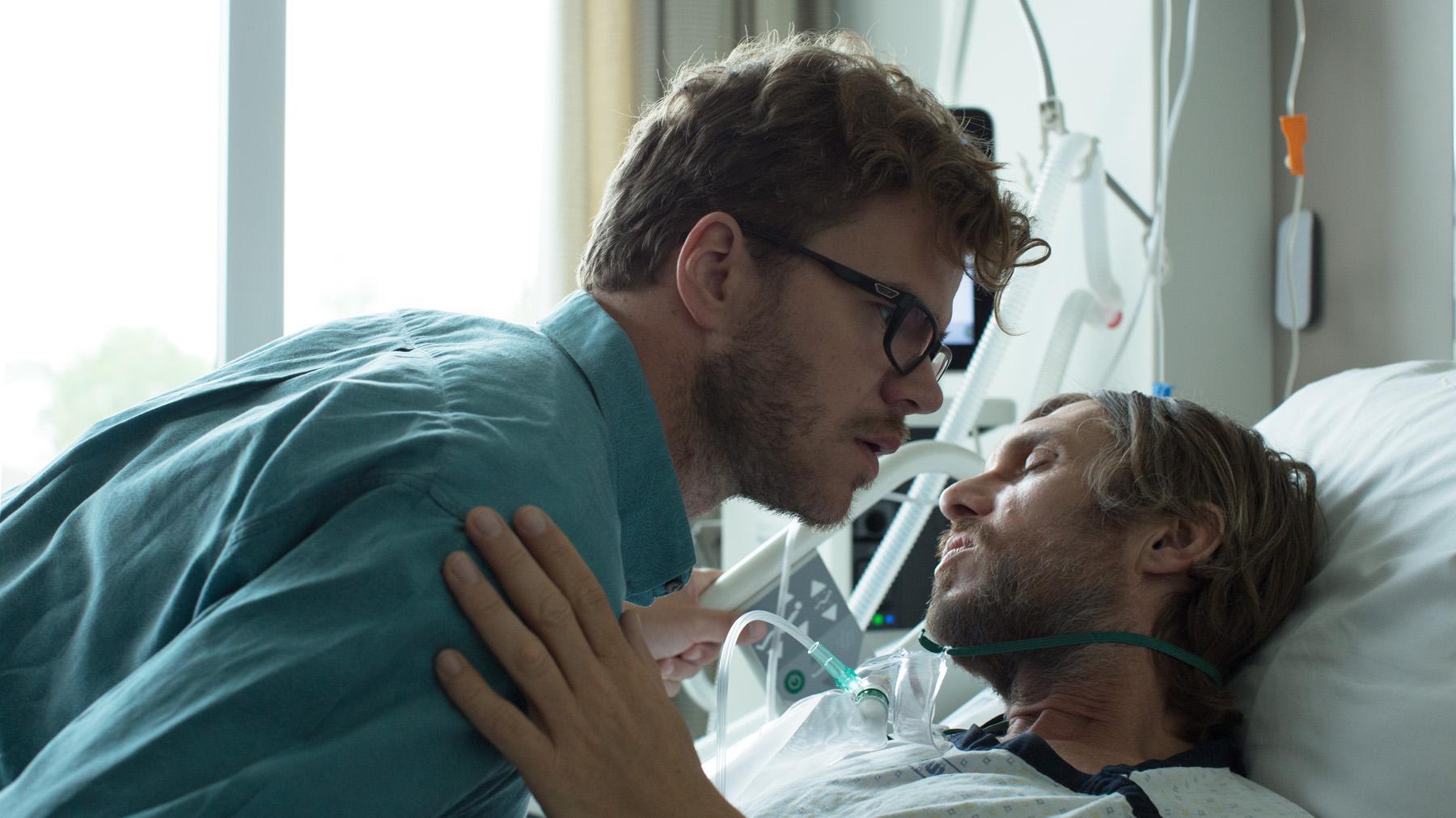 Bart Hollanders & Werner De Smedt in NA DE DOOD IN DE HEMEL directed by Thomas Baert - DoP Dries Delputte