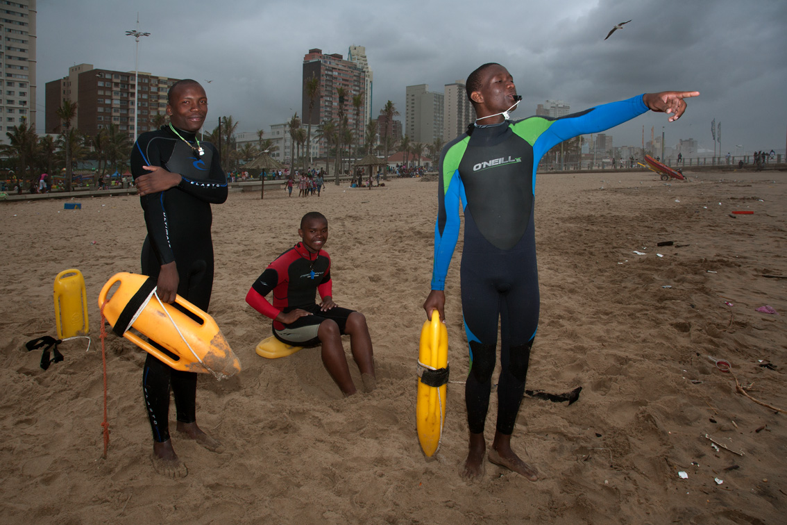 Life guards at the beach, Durban.