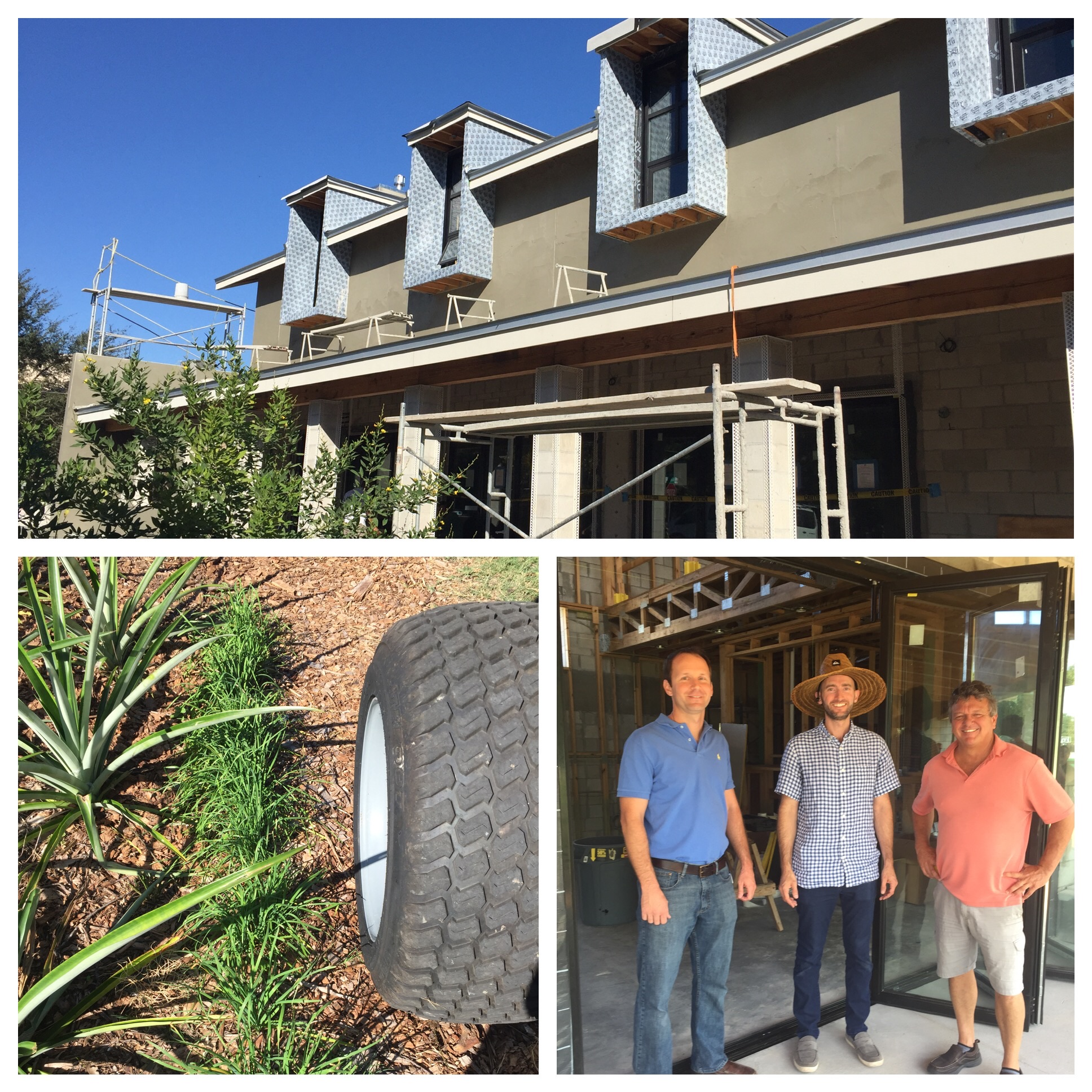 General Contractor, Rob Smith of E2Homes, along with project managers, Matt Cox and Jan Vandegriff.
