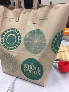 Our Iron Chef mystery bags filled with donated ingredients. Thank you Whole Foods Market!