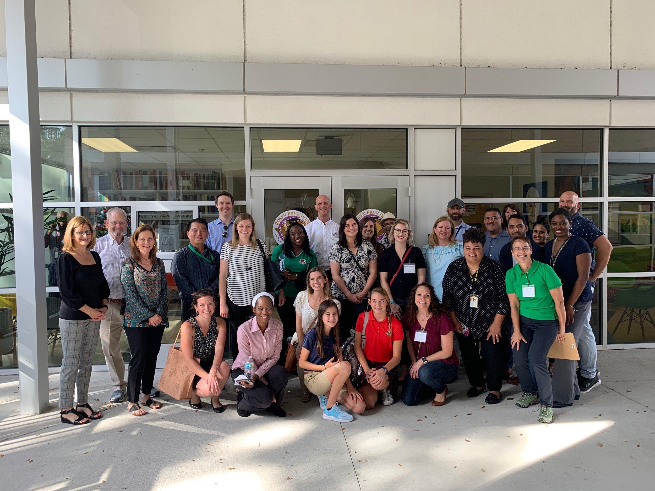2018 School Garden Field Trip and Empathy Tour attendees