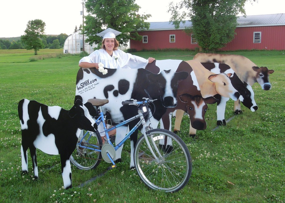 JUNE 2012:  Cow Bicycle Rack, Donated to the Bent Northrop Memorial Library – Value:  $7,800.
