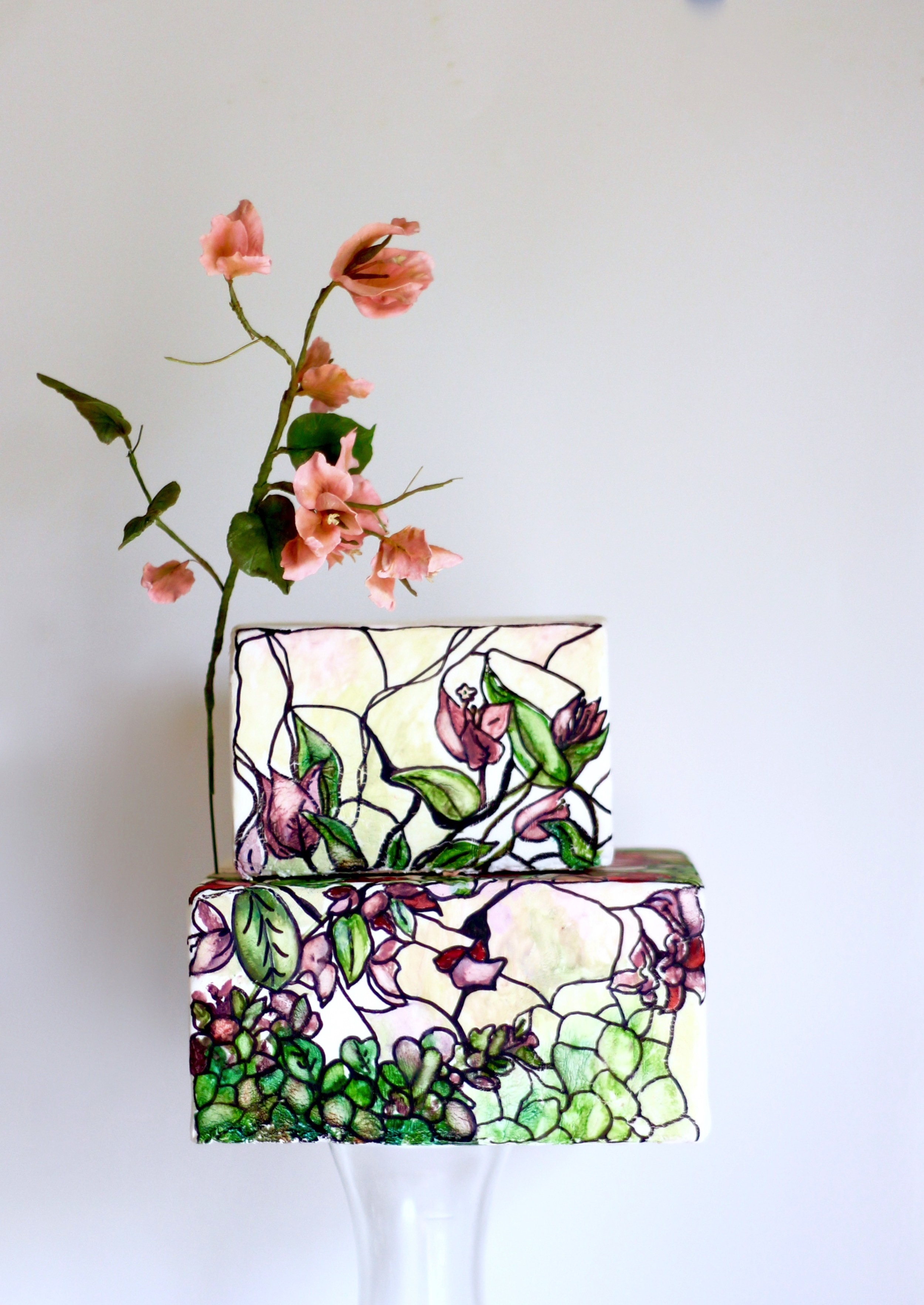 tropical wedding cake by jaime gerard cake
