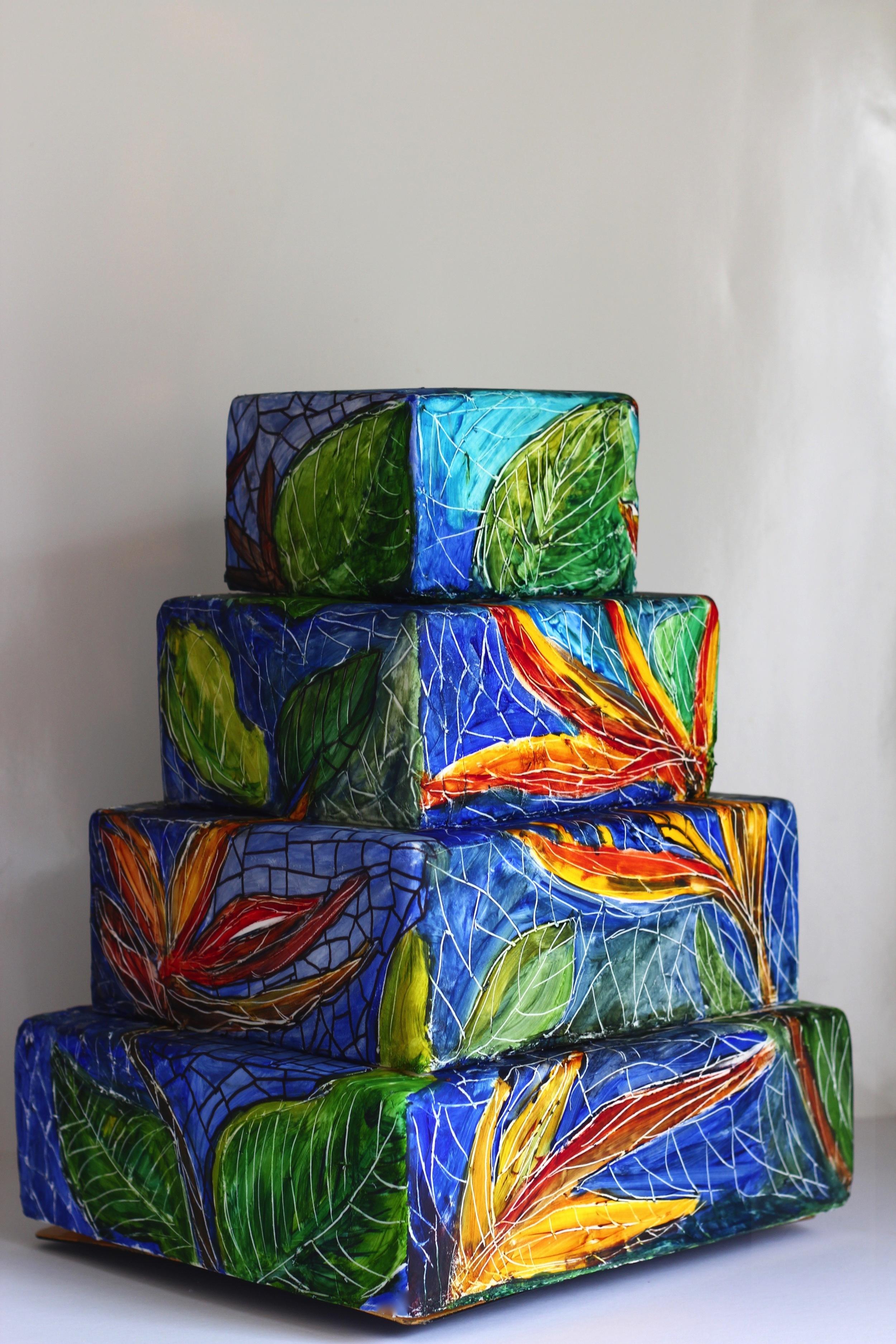 tropical themed wedding cake trinidad and tobago by jaime gerard cake
