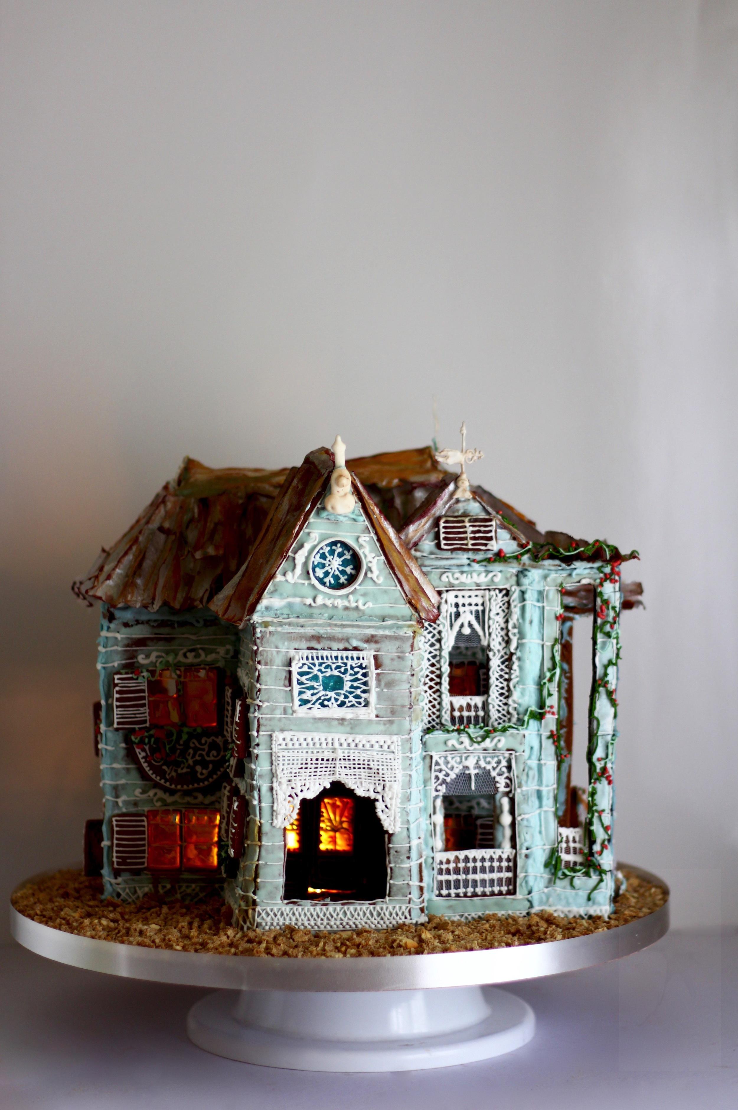victorian gingerbread house trinidad and tobago, by jaime gerard cake
