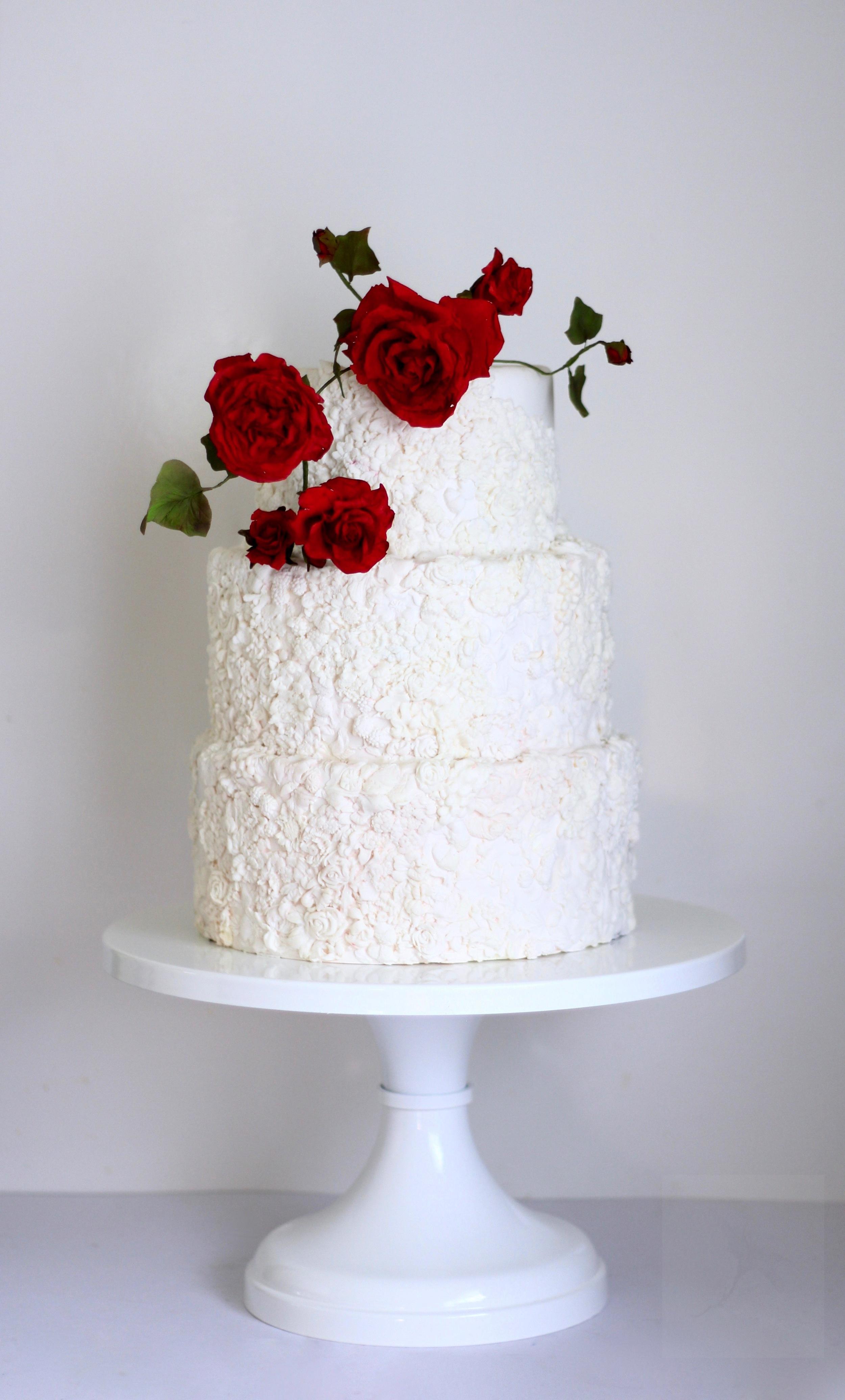 jaime gerard cake red roses and bas relief wedding cake trinidad and tobago.jpg