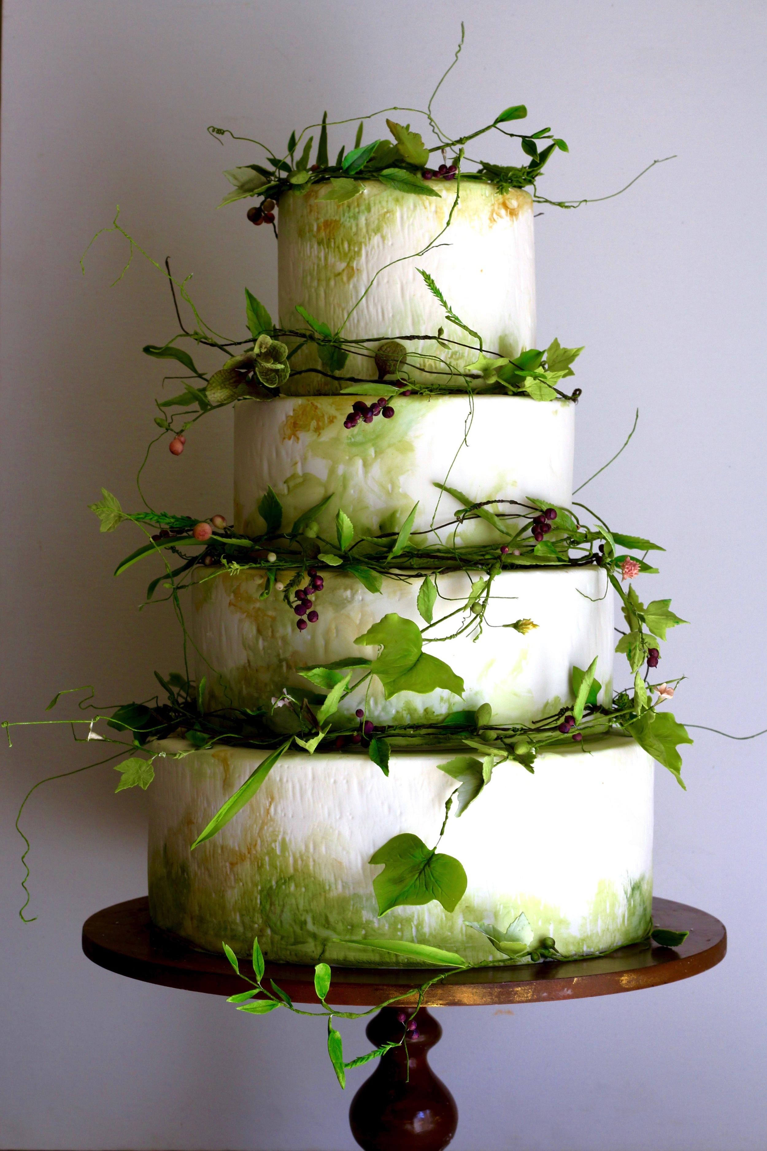 wreath wedding cake-by jaime gerard cake