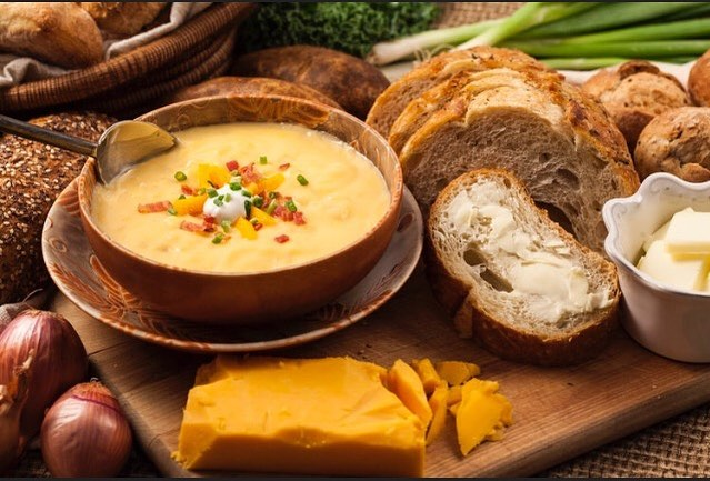Check out our Cheddar potato Soup! Sprinkle in some bacon bits, fresh cheddar cheese, and some parsley for a mouth watering addition  to this already delicious Soup!  #foody #delicious #cheddarpotatosoup #fall #tasty #creamy #quickandeasy #goodeats #fullstomach #dinner #oneofakind #familyfood #yummy