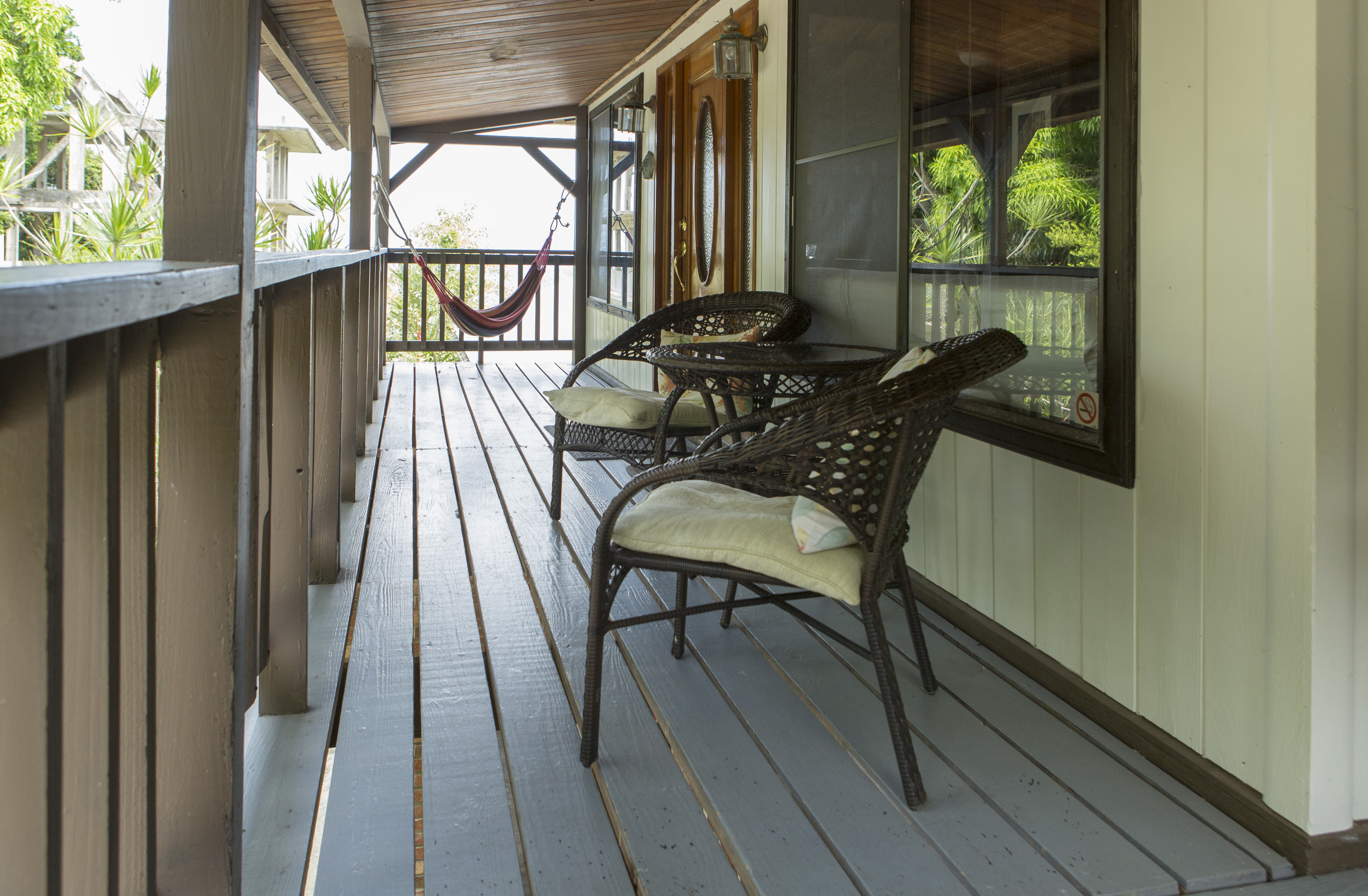 Our  Chalet  has a breezy porch with the perfect view.