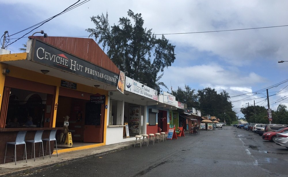 Ceviche Hut, one of our favorites, in the long line of Luquillo kioskos.