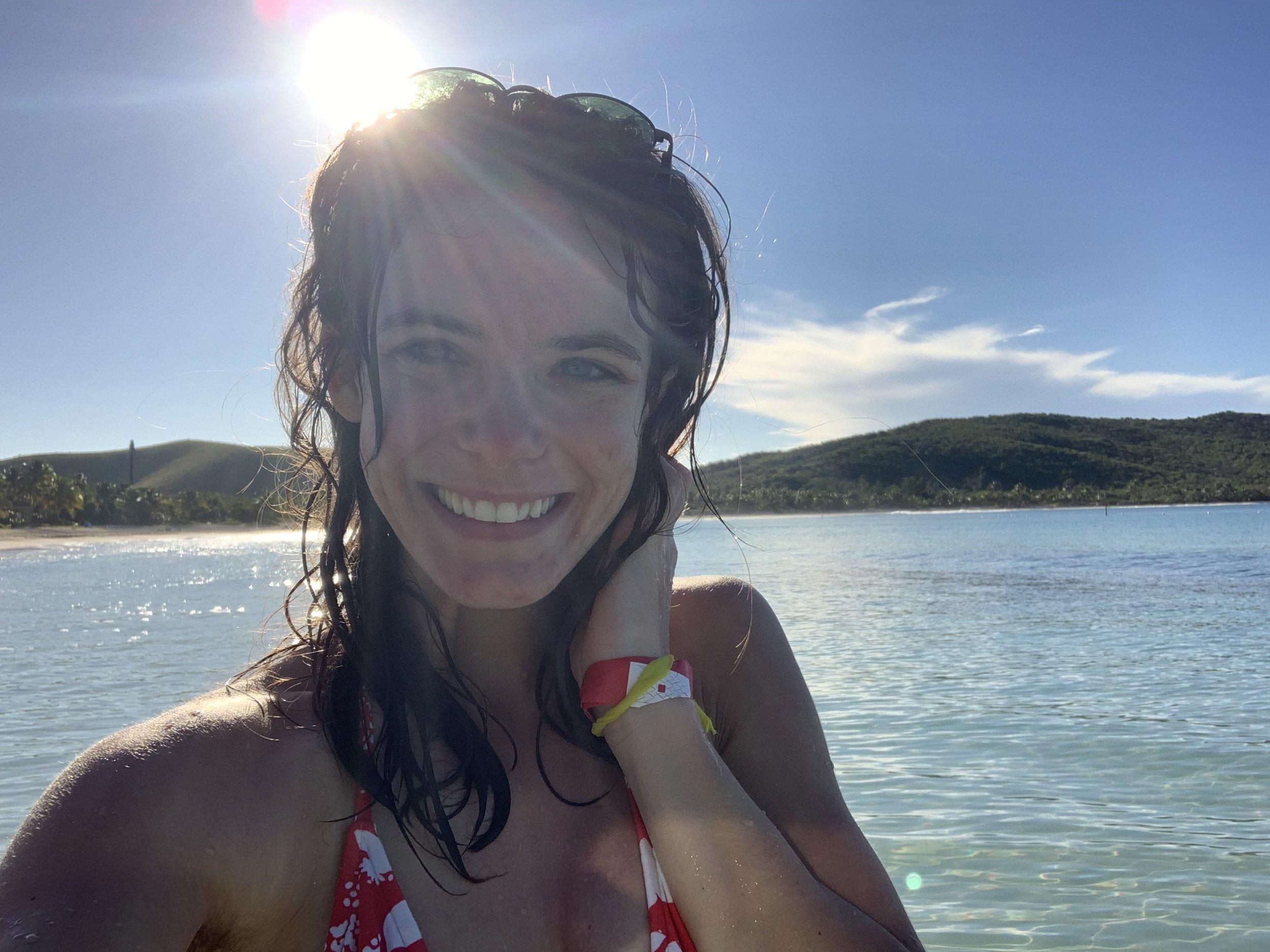 Selfie at Flamenco Beach, fourth best beach in the world.