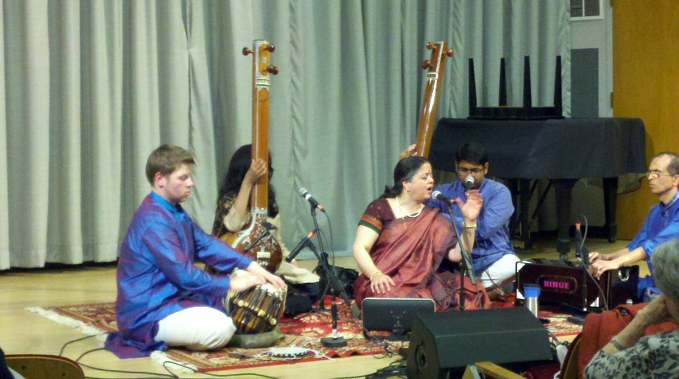 Chaz performing with Pandita Aditi Upadhya