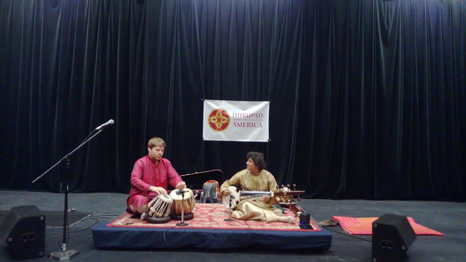 Onstage with Pandit Partho Sarthy (recording of this concert is available under audio)