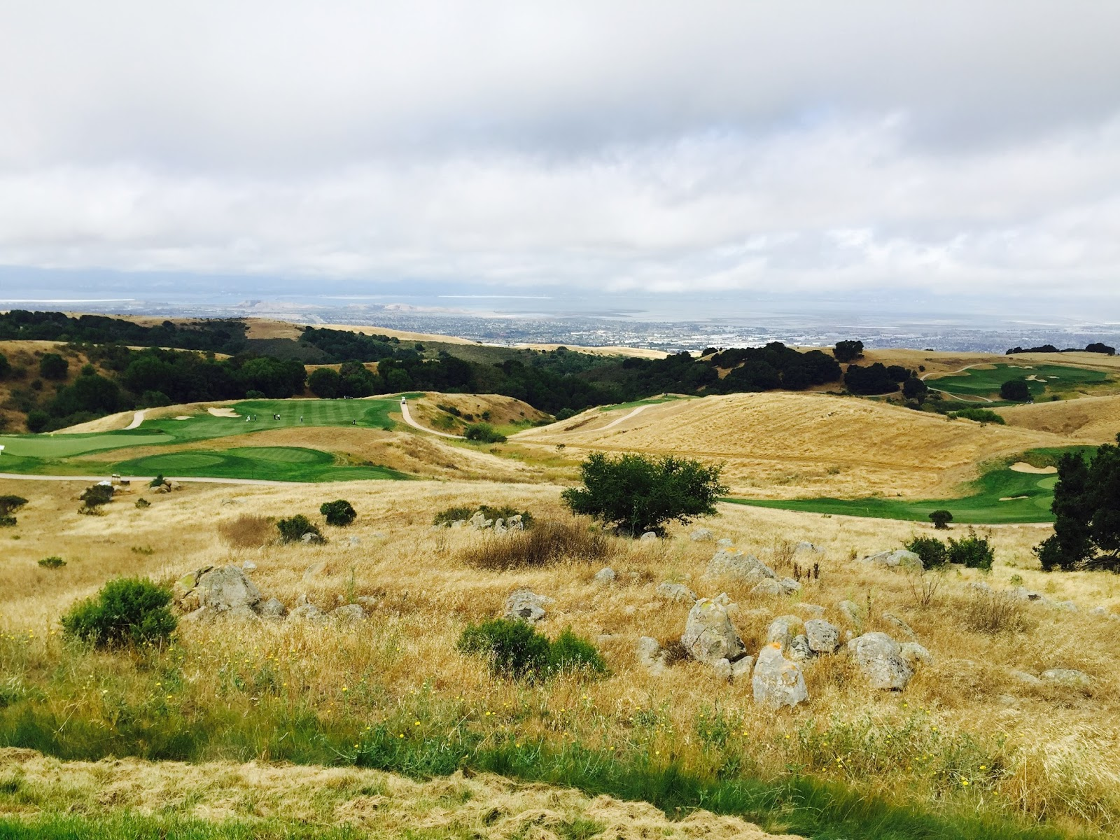 This picture shows a bit of the changes in elevation we experience just walking the course.