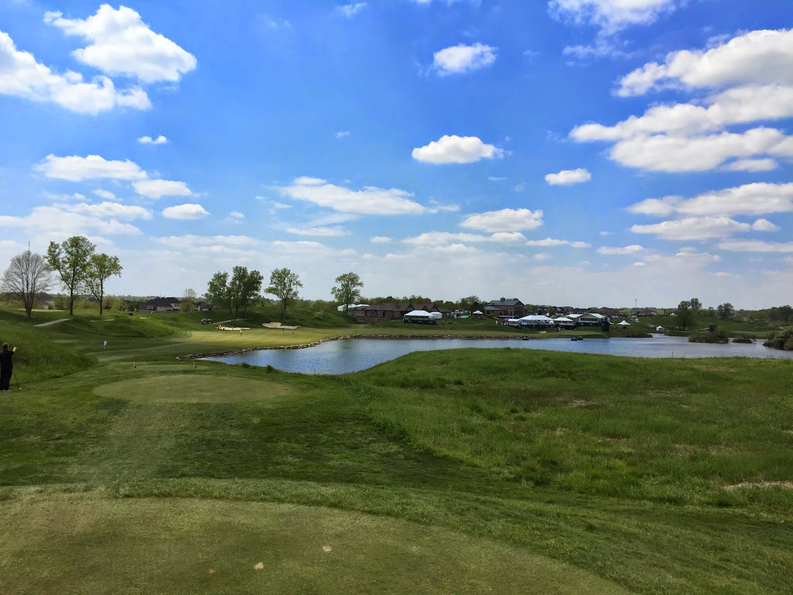 The 18th hole at Victoria National.