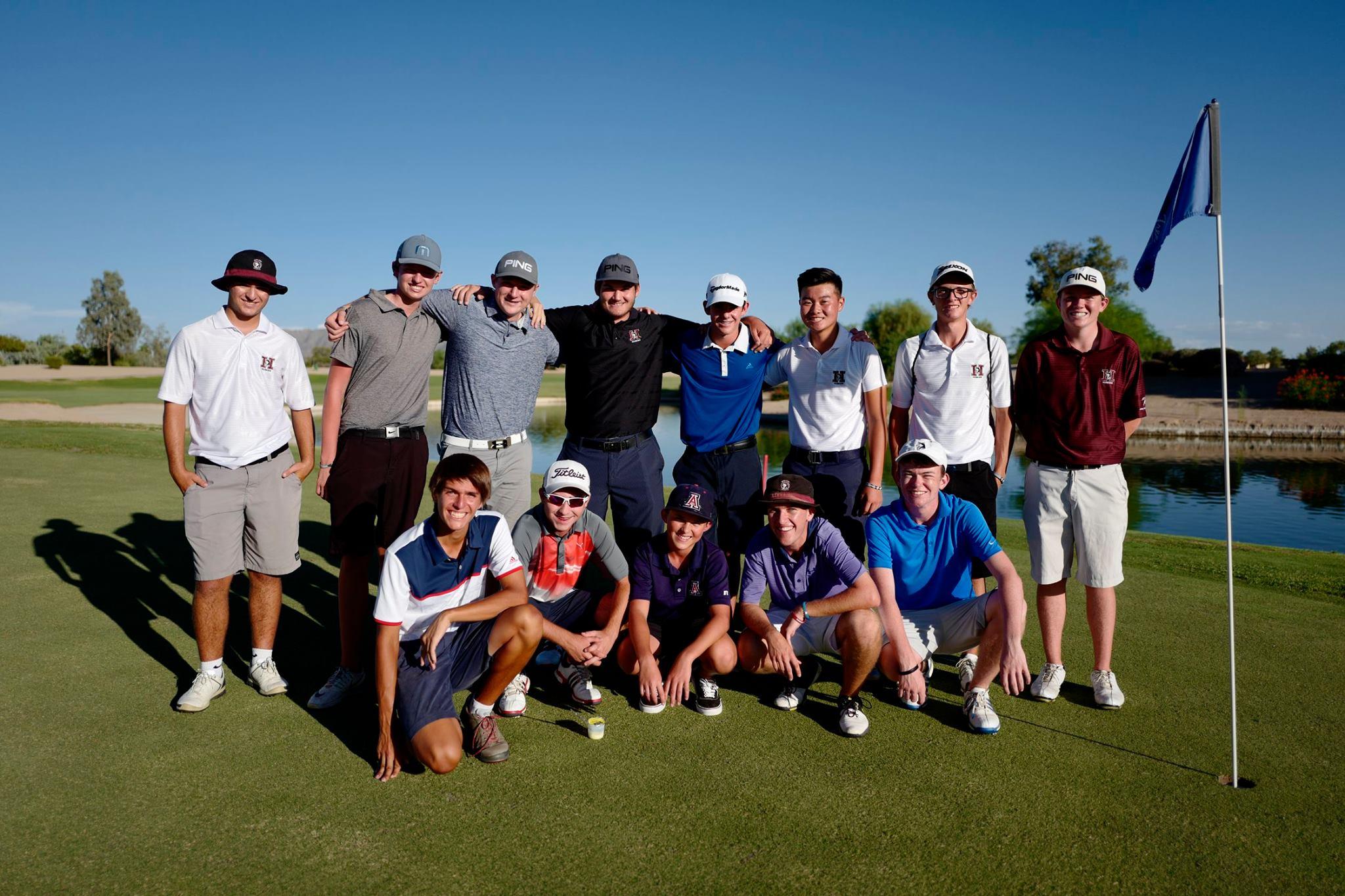 2017-2018 Boys Varsity Golf Team Roster  Nick Hedman (12)*  Ryan Sanchez (12)  TJ Reitano (12)  Alexander Yu (11)  Brandon Hill (11)  Caden Rice (11)  Calum Dunn (11)  Jacob Trevino (11)  Kanoah Cunningham (11)  Noah Bates (11)  Dalton Marsh (10)  Ethan Adam (10)  Andrew Scroggins (10)  Cole Sledge (9)  *playing in FL tournament when photo was taken