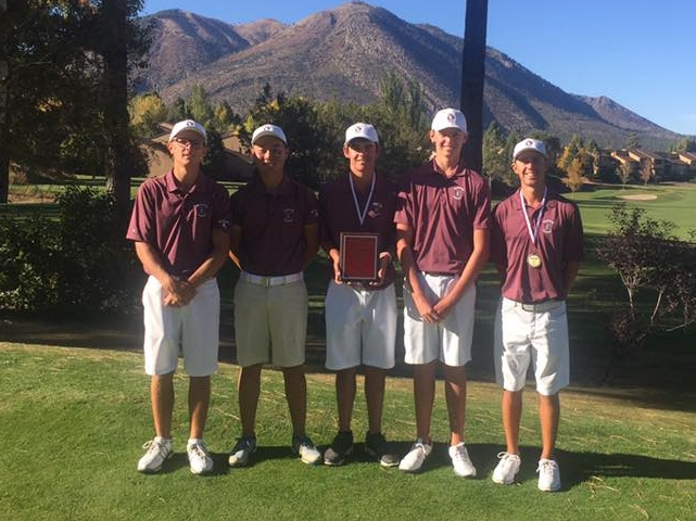 The HHS Boys Team won the 2017 Mountain Ridge Invitational at Continental Country Club in Flagstaff , Arizona! Great job boys!  (Left to Right Ryan Sanchez, Alexander Yu, Ethan Adam, Noah Bates, Nick Hedman)