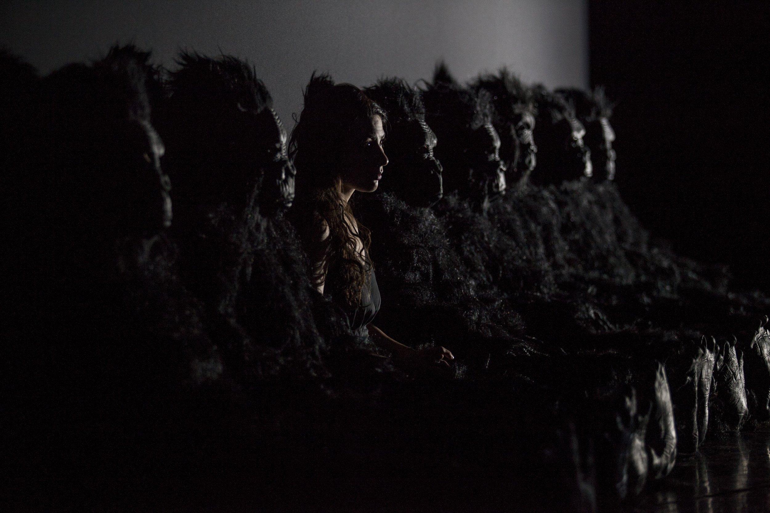A scene from Acquanetta by Michael Gordon and Deborah Artman at the 2018 Prototype Festival