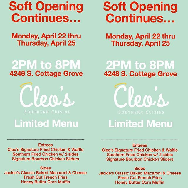 Attention: The wait is over. Come and support Coach @chef_krisharper at @cleosoncottage. Her restaurant is now open. Please Share!