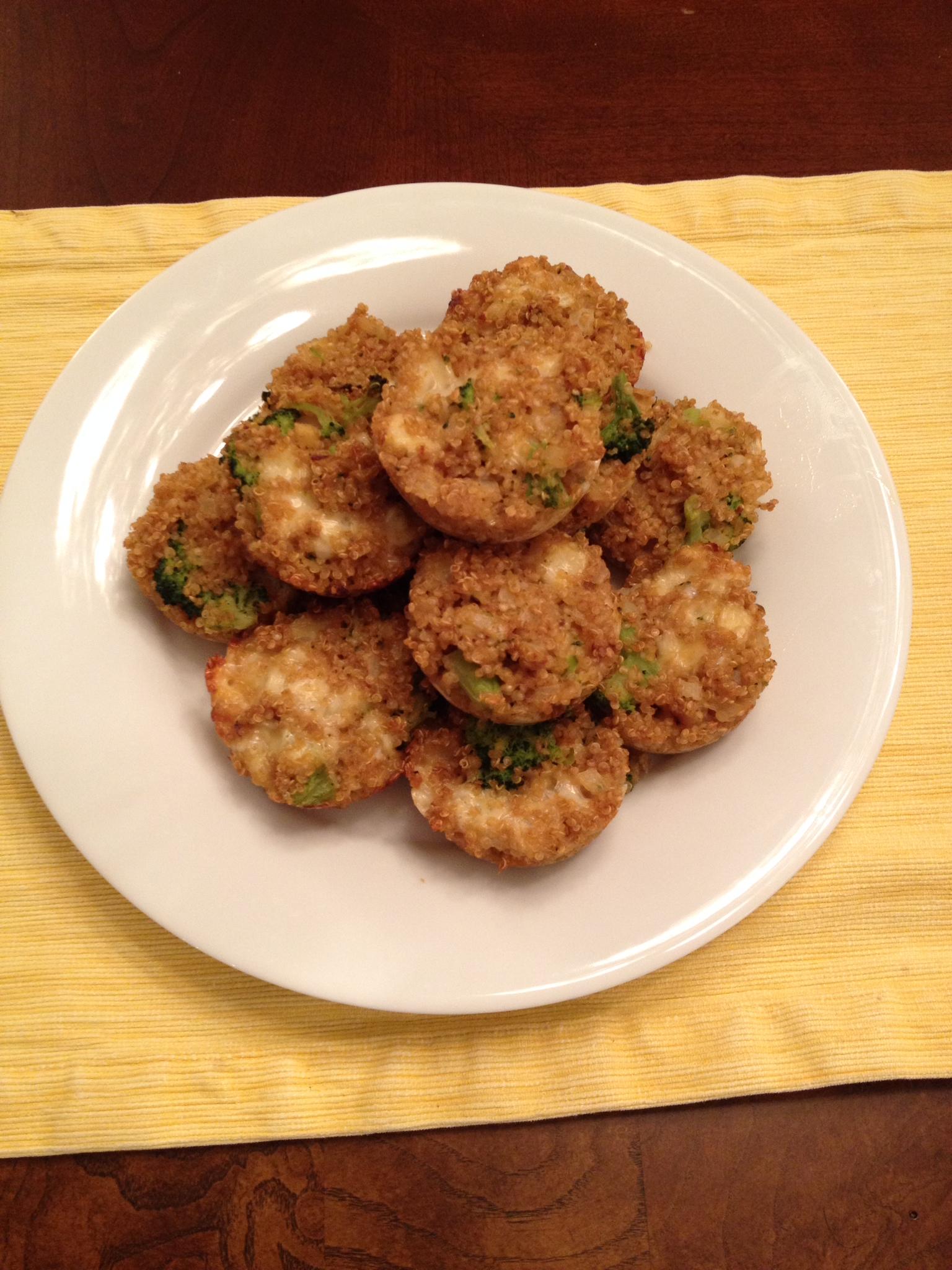 Broccoli Fontina Quinoa Muffins