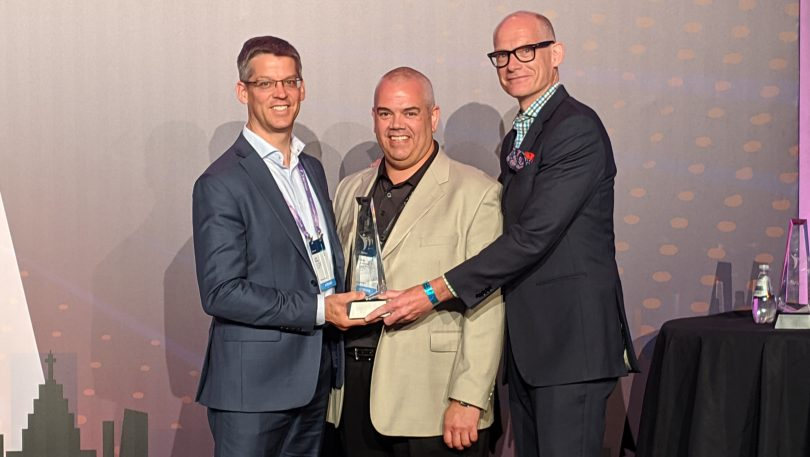 TechImpact member T4G recently won a Microsoft Canada Partner Award. Representing T4G from left to right: Jon Barry, Michael Alexander, and Ron McKay.