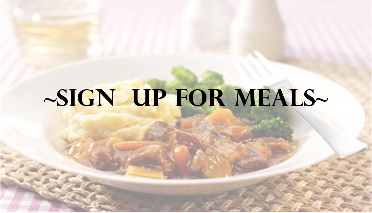 Sign up Meals