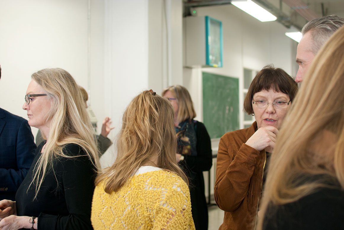 Coffee break at Iceland Academy of the Arts in Laugarnes.. Photo: Hulda Ros Gudnadottir