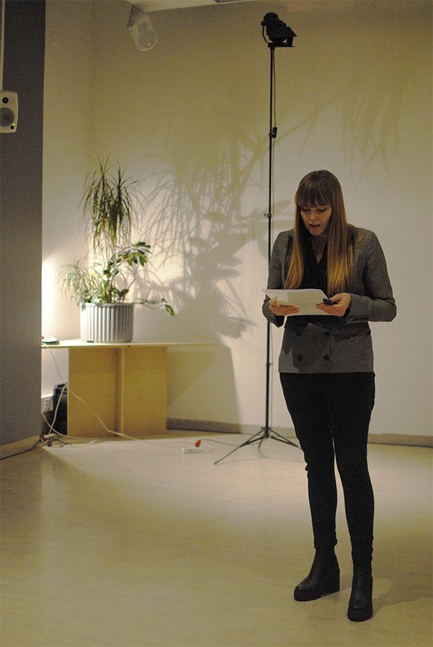 Berglind Jóna Hlynsdóttir, moderator. Photo: Andrea Aðalsteinsdóttir
