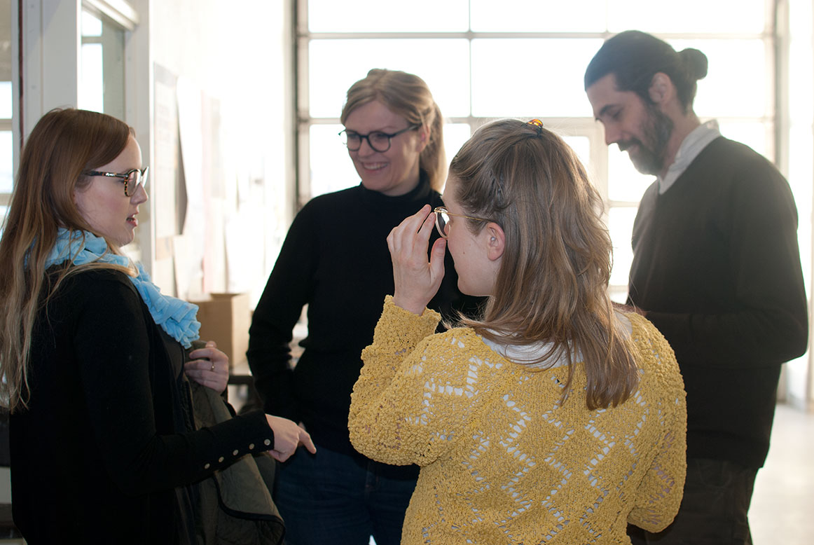 Coffee break for the audience. Photo: Hulda Rós Guðnadóttir.