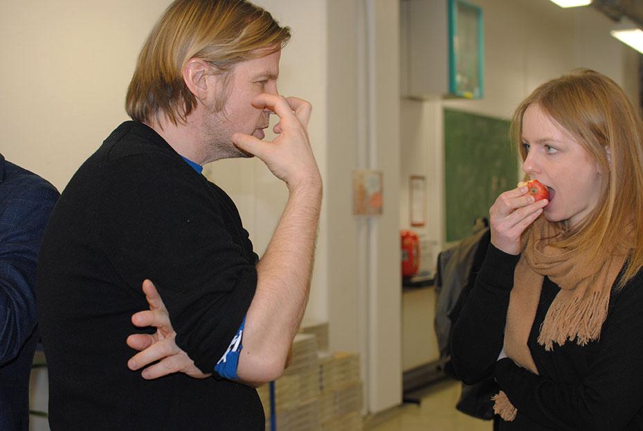 Narve Hovdenakk and Stefanie Hessler. Photo: Hulda Rós Guðnadóttir