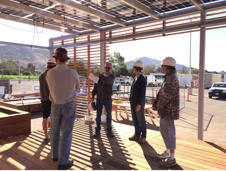 Touring the Cal Poly Solar Decathlon house, with instructors Rich Beller and Sandy Stannard.