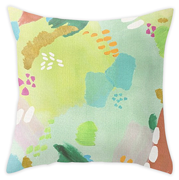 Bright Paints + Gold throw pillow  - sold in my   Society6 shop