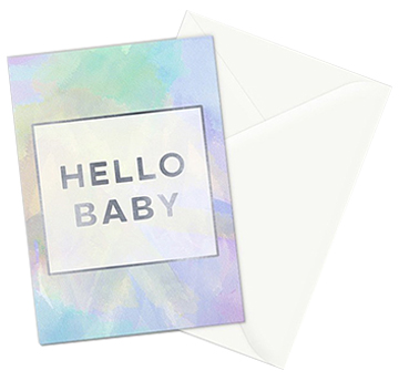 Hello Baby greeting card - set of 3 cards can be purchased in my   Society6 shop