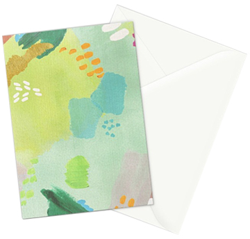 Bright Paints + Gold greeting card  - set of 3 cards can be purchased in my   Society6 shop
