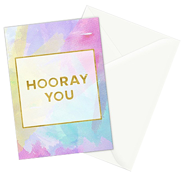 Hooray You greeting card  - set of 3 cards can be purchased in my   Society6 shop