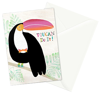 Toucan Do It! greeting card  - set of 3 cards can be purchased in my   Society6 shop