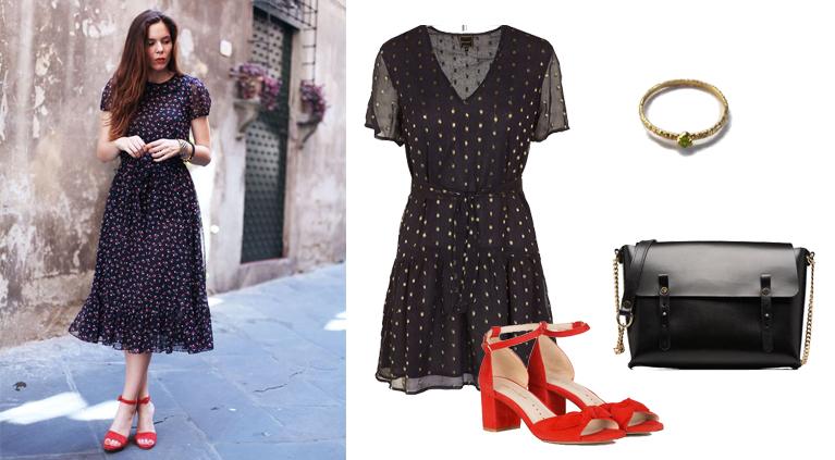 robe Petite Mendigote, chaussures Petite Mendigote, sac Craie, bague Gag&Lou