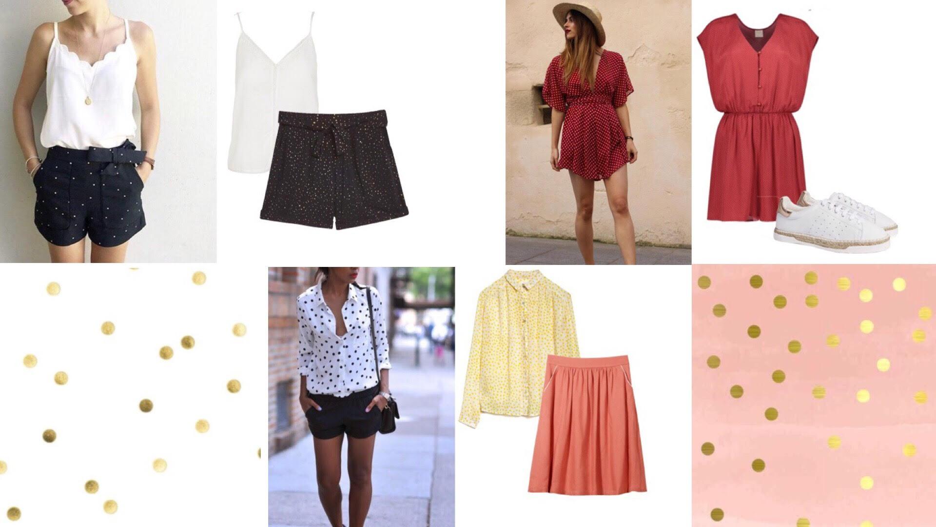 Haut à gauche : short  Bl une, top Des Petits Hauts ; Bas : chemise Leon&Harper ; Haut à droite : combishort Des Petits Hauts, baskets Canal St Martin