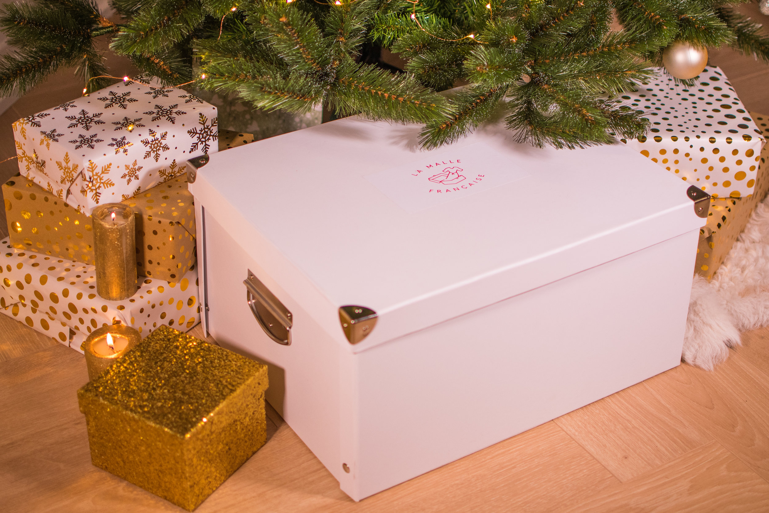 malle, cadeau, noel, carte cadeau, sapin, fêtes, shopping, femme