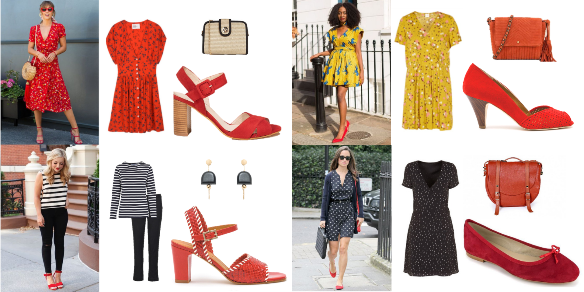tendance, printemps, chaussures, sandales, couleur, rouge, shopping, malle, box, styliste