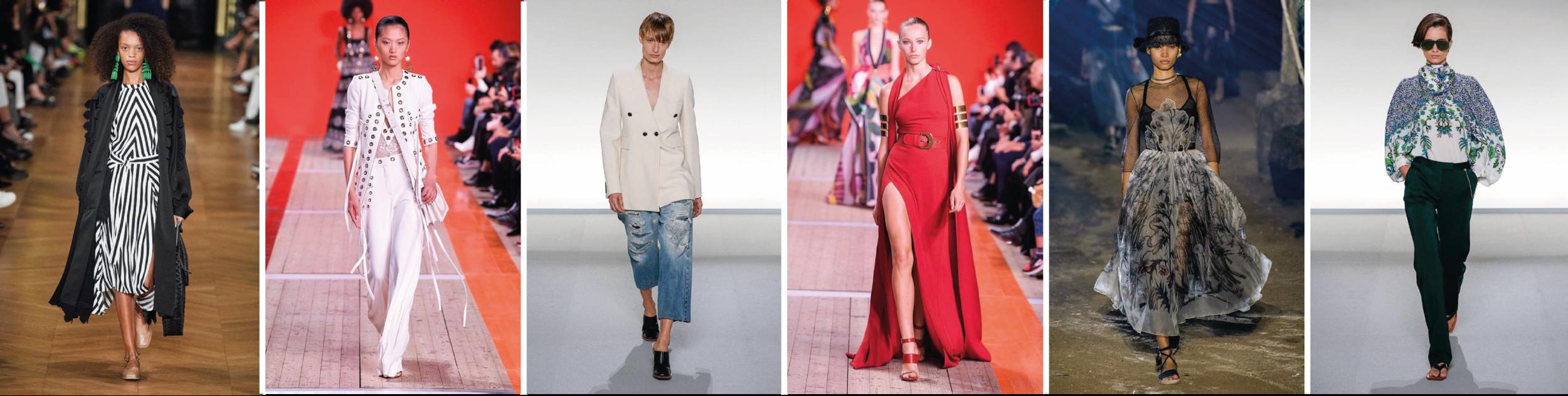 Tenues présentées lors des défilées de Elie-Saab, Christian Dior, Givenchy et Stella McCartney.