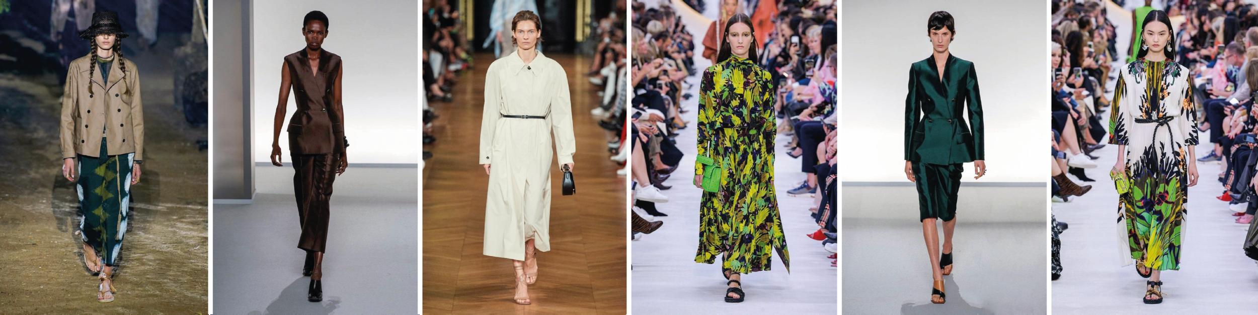 Tenues présentées lors des défilées de Elie-Saab, Christian Dior, Givenchy et Valentino.
