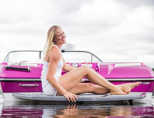 """Happy Monday!! off to work with @swini_skis & my @nautiqueboats 💖  When you love what you do, you never work a day in your life. I am blessed to have waterskiing- I have worked every day of my life so I can make a living doing what I absolutely LOVE! Thank you to Nautique for believing in me 13 years ago & continuing to support me with the BEST & most beautiful boat I could ever dream of 💖  You have a passion inside of you that gives you life, happiness, purpose. Is it helping people? Is it fitness? Is it nutrition? Is it organization? Do you have a unique experience to share with people? If you believe you have a purpose to share with the world, you will enjoy every minute of your fervent """"work"""" life. Surround yourself with people who lift you up & encourage you to be the best you!! 💖  Photo by: @tiaremirandaphotography"""