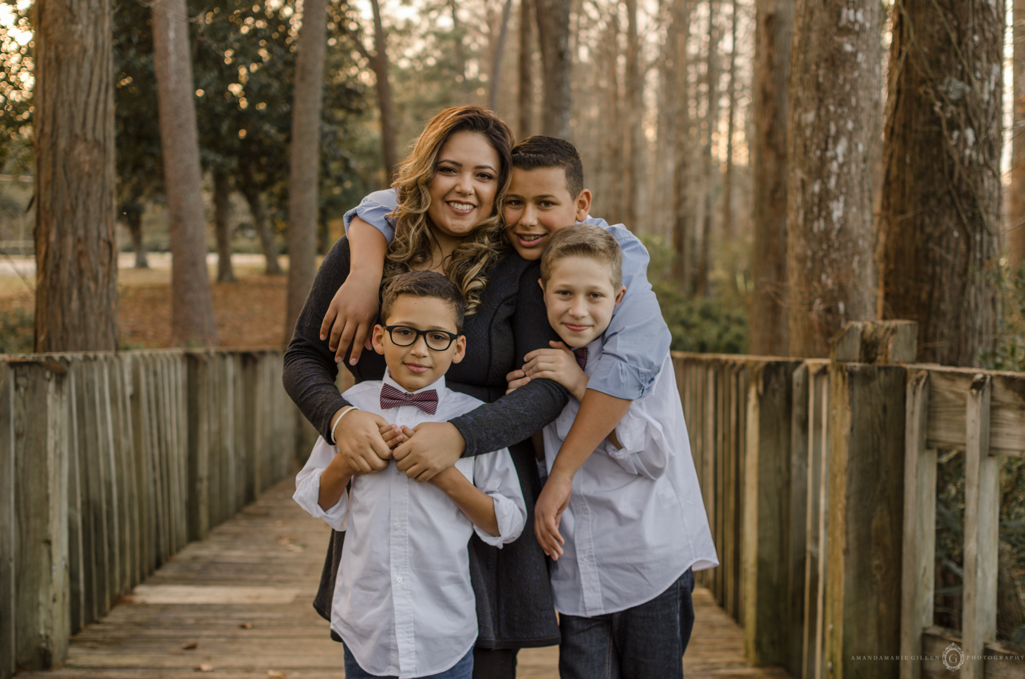 family photo sessions at greenfield lake wilmington nc