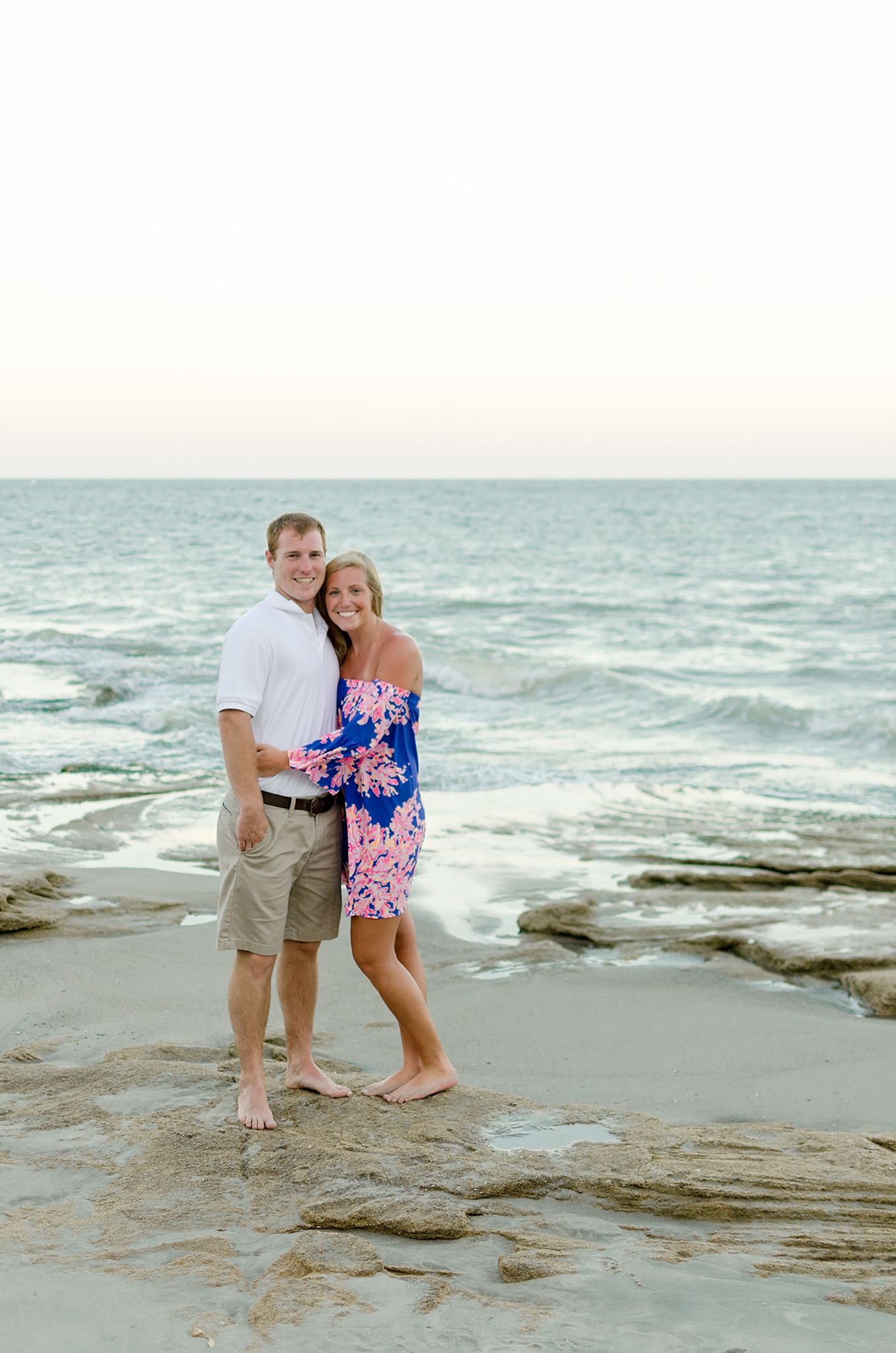 Kure Beach, NC engagement photography