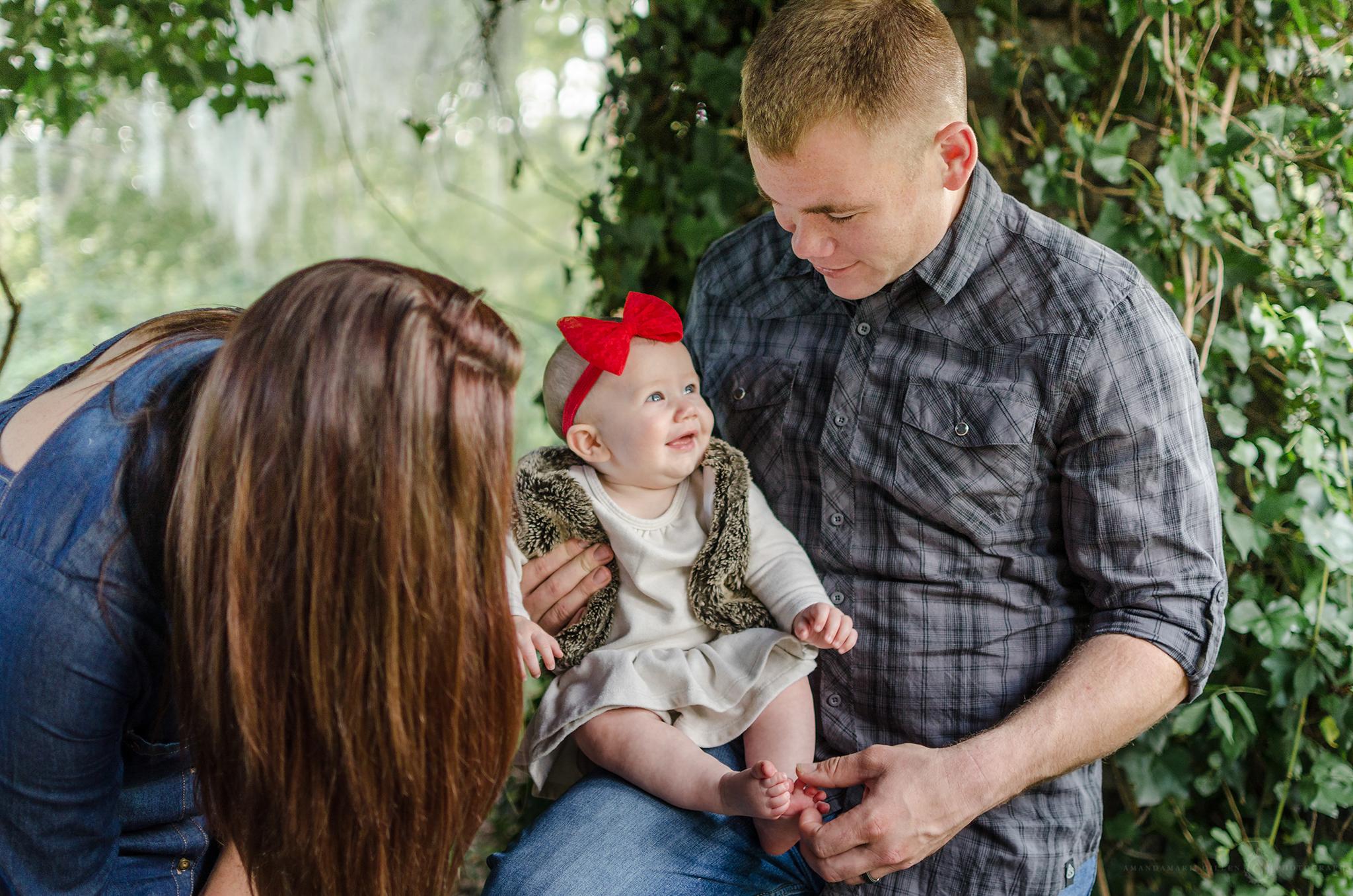 family mini session Greenfield Lake Wilmington, NC