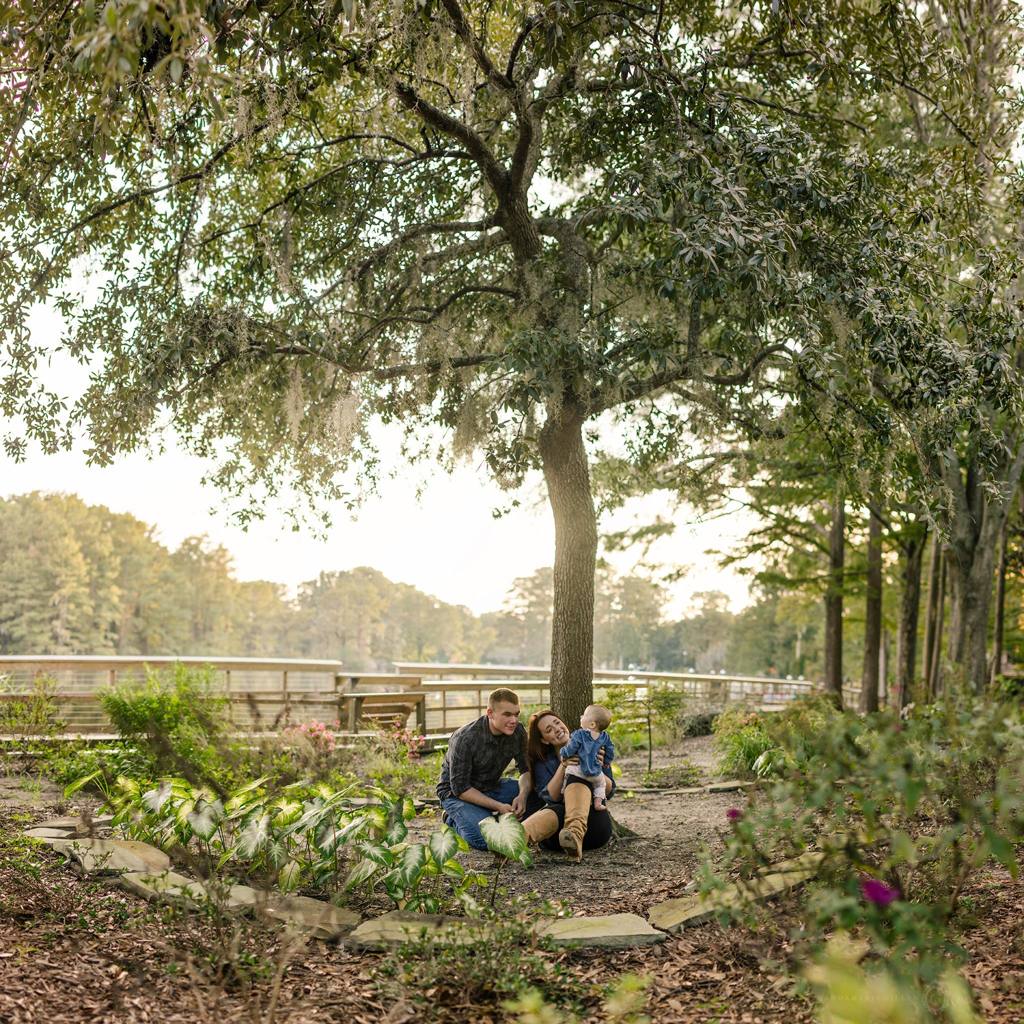 Greenfield Lake family portraits Wilmington, NC photographer